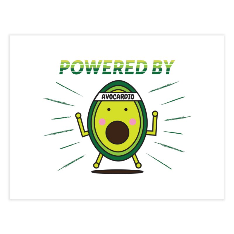 Powered by Avocado Home Fine Art Print by Avo G'day!