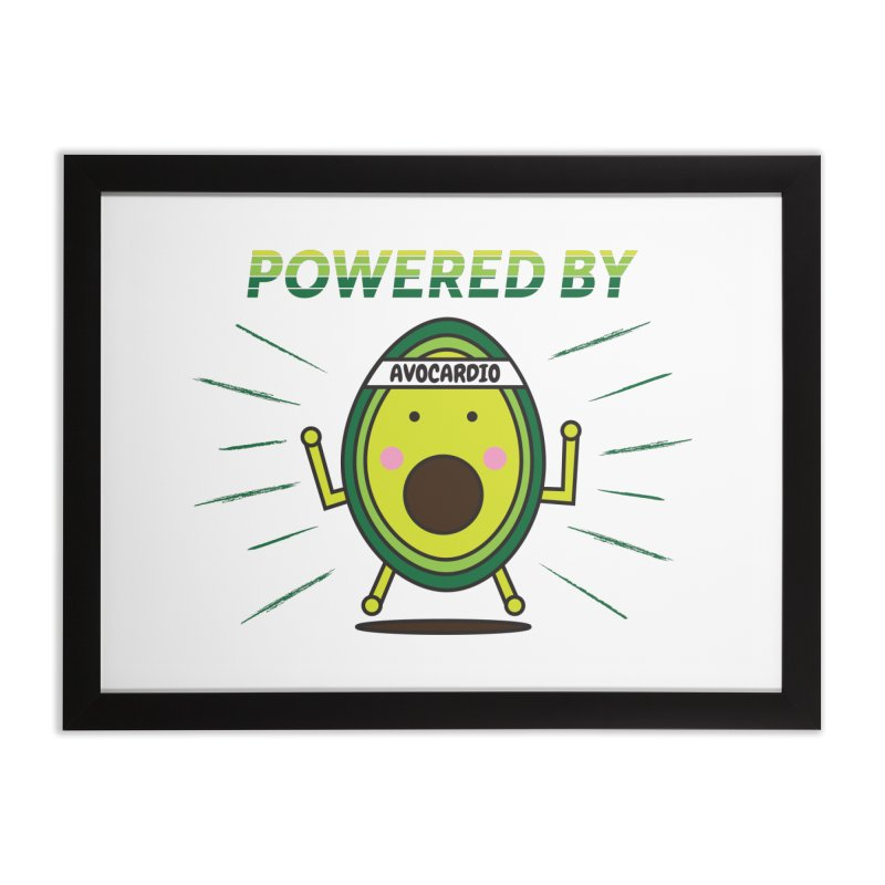 Powered by Avocado Home Framed Fine Art Print by Avo G'day!