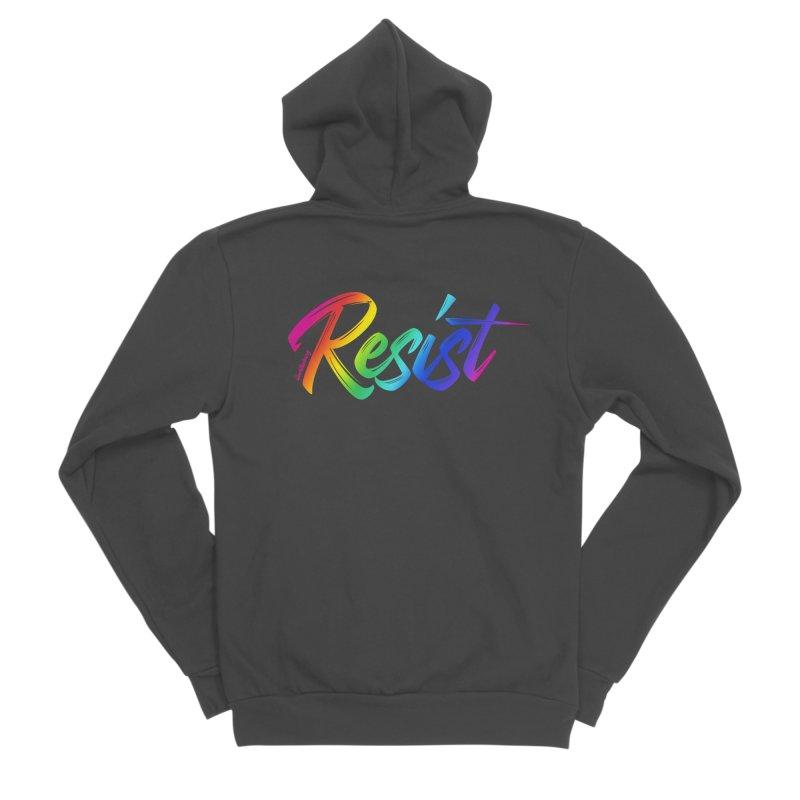 RESIST | ILTB Pride Collection 2019 Women's Sponge Fleece Zip-Up Hoody by I Love the Burg Swag
