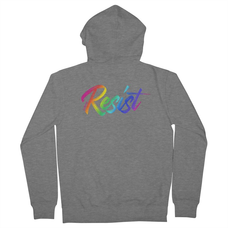 RESIST | ILTB Pride Collection 2019 Men's French Terry Zip-Up Hoody by I Love the Burg Swag