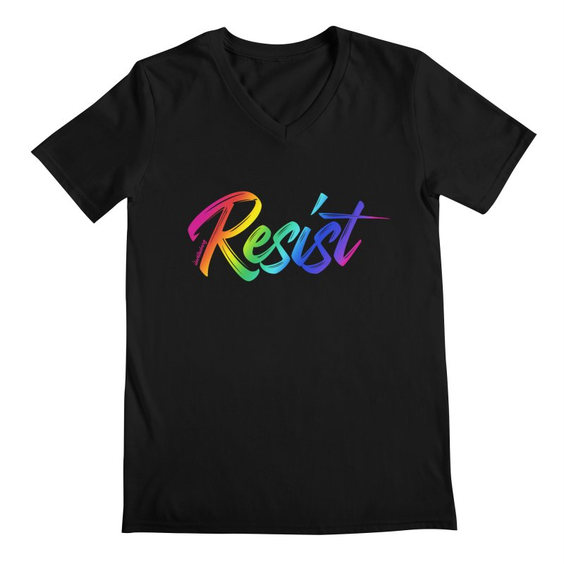 RESIST | ILTB Pride Collection 2019 Men's Regular V-Neck by I Love the Burg Swag