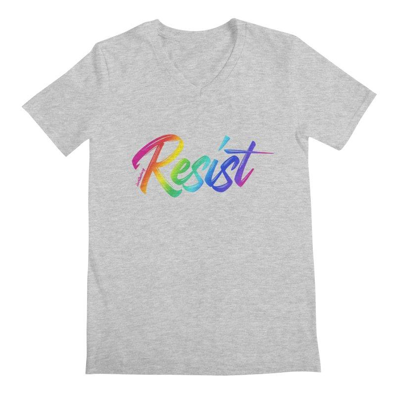 RESIST | ILTB Pride Collection 2019 Men's Regular V-Neck by I Love the Burg Swag