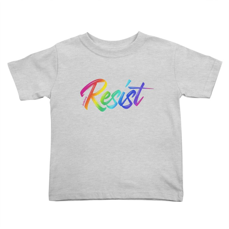 RESIST | ILTB Pride Collection 2019 Kids Toddler T-Shirt by I Love the Burg Swag