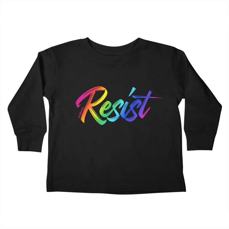 RESIST | ILTB Pride Collection 2019 Kids Toddler Longsleeve T-Shirt by I Love the Burg Swag