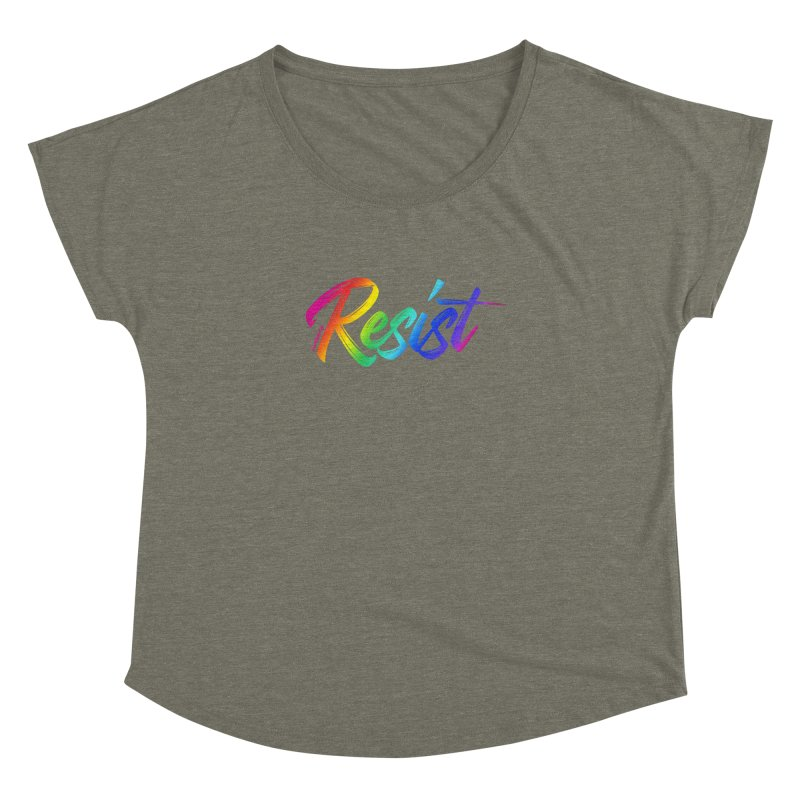 RESIST | ILTB Pride Collection 2019 Women's Dolman Scoop Neck by I Love the Burg Swag