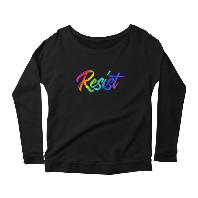 RESIST | ILTB Pride Collection 2019 Women's Scoop Neck Longsleeve T-Shirt by I Love the Burg Swag
