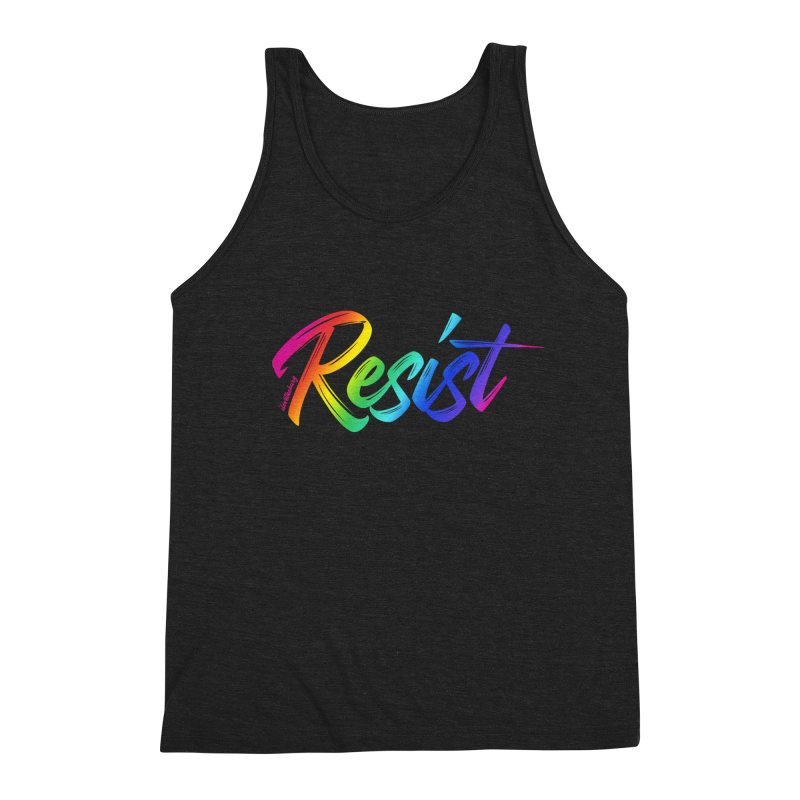 RESIST | ILTB Pride Collection 2019 Men's Triblend Tank by I Love the Burg Swag