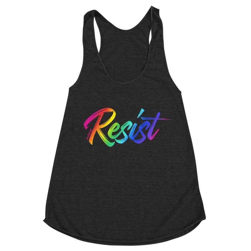RESIST | ILTB Pride Collection 2019 Women's Racerback Triblend Tank by I Love the Burg Swag