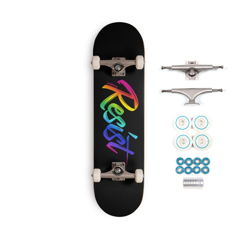 RESIST | ILTB Pride Collection 2019 Accessories Complete - Basic Skateboard by I Love the Burg Swag