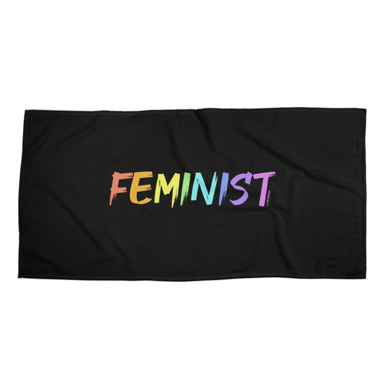 FEMINIST | ILTB Pride Collection 2019 Accessories Beach Towel by I Love the Burg Swag