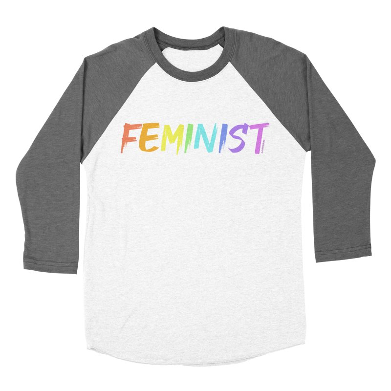 FEMINIST | ILTB Pride Collection 2019 Women's Baseball Triblend Longsleeve T-Shirt by I Love the Burg Swag
