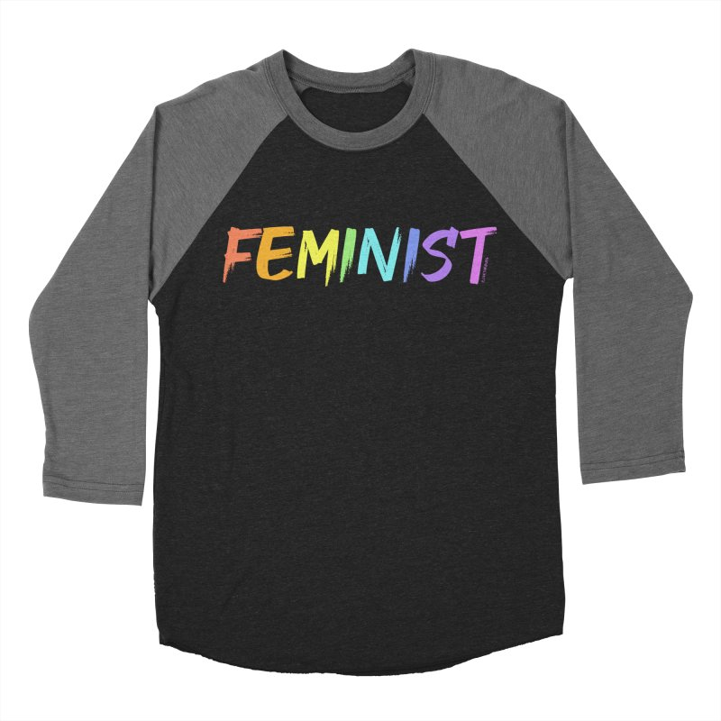 FEMINIST | ILTB Pride Collection 2019 Men's Baseball Triblend Longsleeve T-Shirt by I Love the Burg Swag