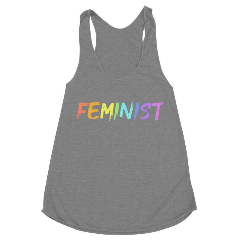 FEMINIST | ILTB Pride Collection 2019 Women's Racerback Triblend Tank by I Love the Burg Swag