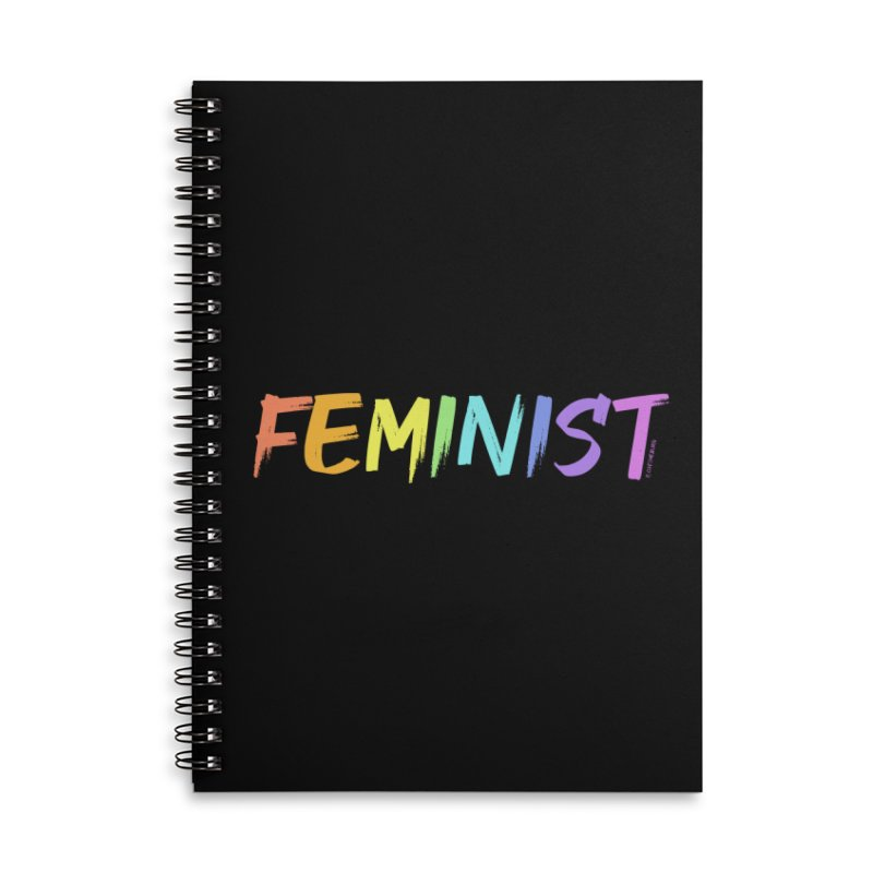 FEMINIST | ILTB Pride Collection 2019 Accessories Lined Spiral Notebook by I Love the Burg Swag