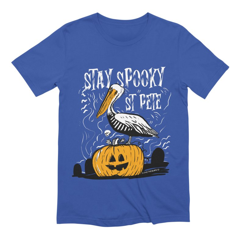 Stay Spooky St. Pete Men's Extra Soft T-Shirt by I Love the Burg Swag