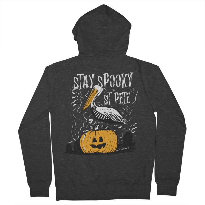 Stay Spooky St. Pete Men's French Terry Zip-Up Hoody by I Love the Burg Swag
