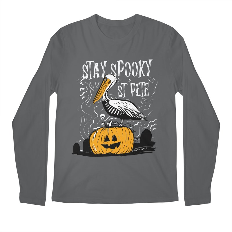 Stay Spooky St. Pete Men's Longsleeve T-Shirt by I Love the Burg Swag