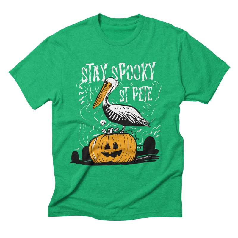 Stay Spooky St. Pete Men's Triblend T-Shirt by I Love the Burg Swag