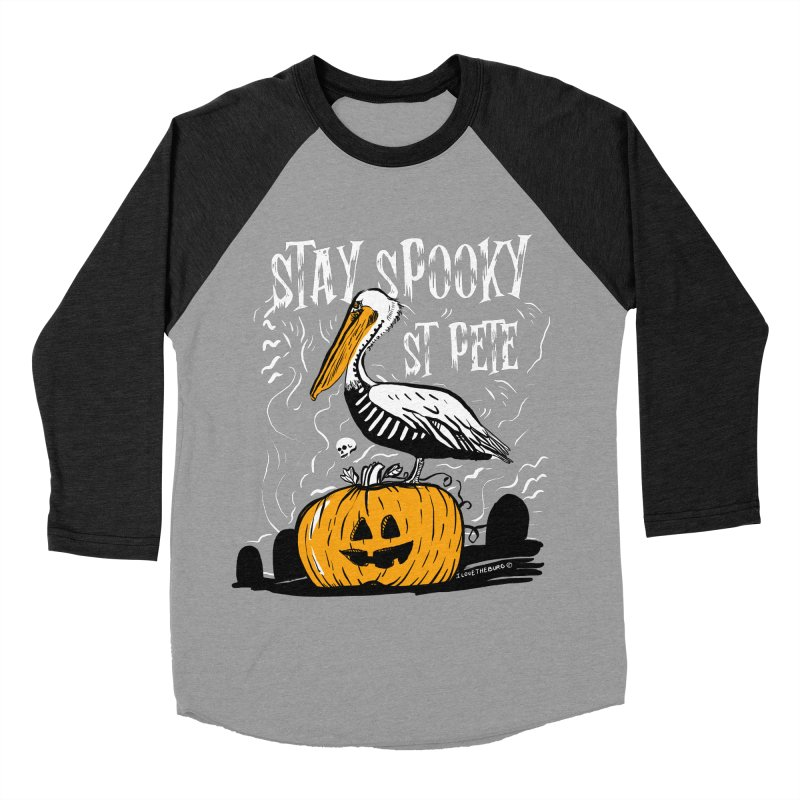 Stay Spooky St. Pete Women's Baseball Triblend Longsleeve T-Shirt by I Love the Burg Swag