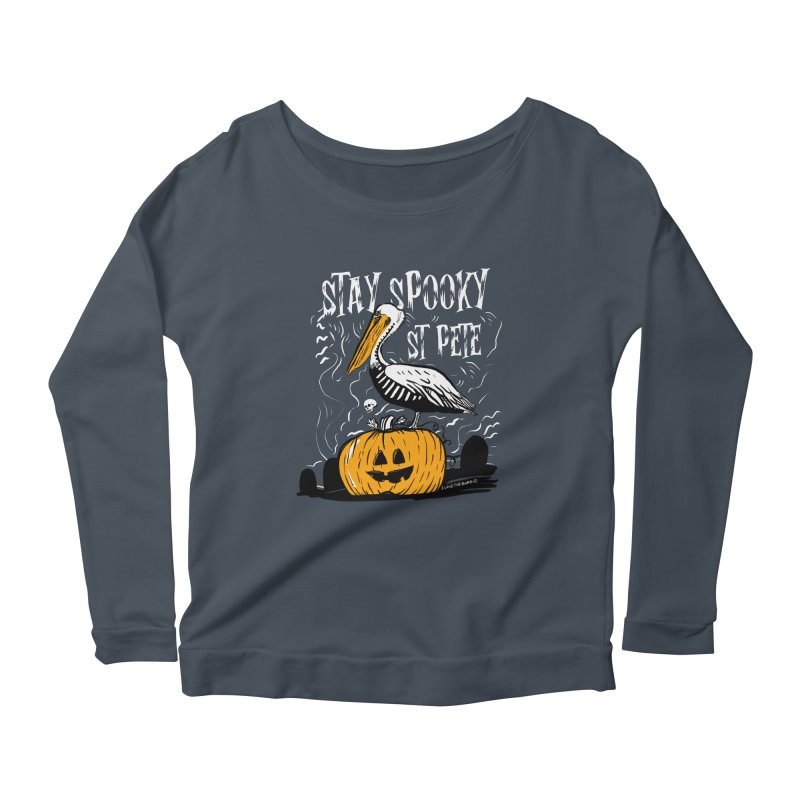 Stay Spooky St. Pete Women's Scoop Neck Longsleeve T-Shirt by I Love the Burg Swag