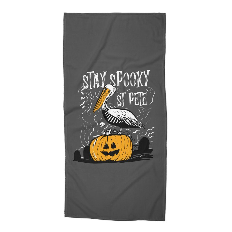 Stay Spooky St. Pete Accessories Beach Towel by I Love the Burg Swag