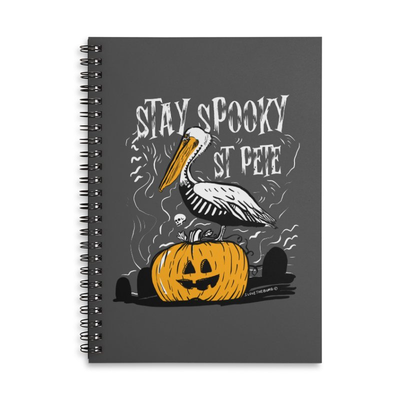 Stay Spooky St. Pete Accessories Lined Spiral Notebook by I Love the Burg Swag