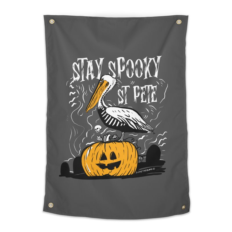 Stay Spooky St. Pete Home Tapestry by I Love the Burg Swag