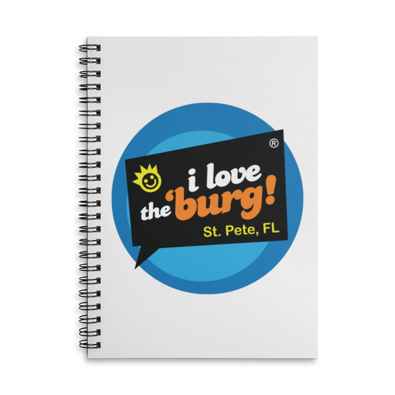 I Love the Burg | THE OG Accessories Lined Spiral Notebook by I Love the Burg Swag