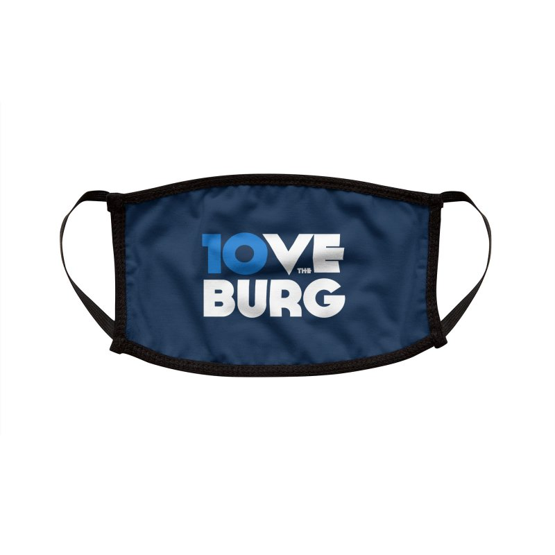 The 10 Year Anniversary Shirt Accessories Face Mask by I Love the Burg Swag