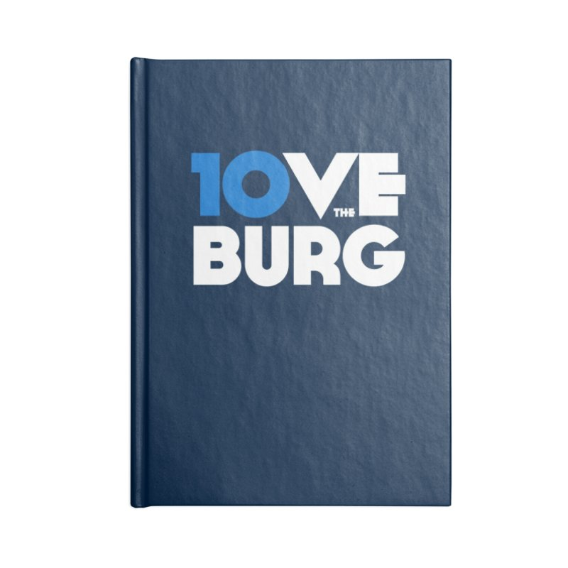 The 10 Year Anniversary Shirt Accessories Notebook by I Love the Burg Swag