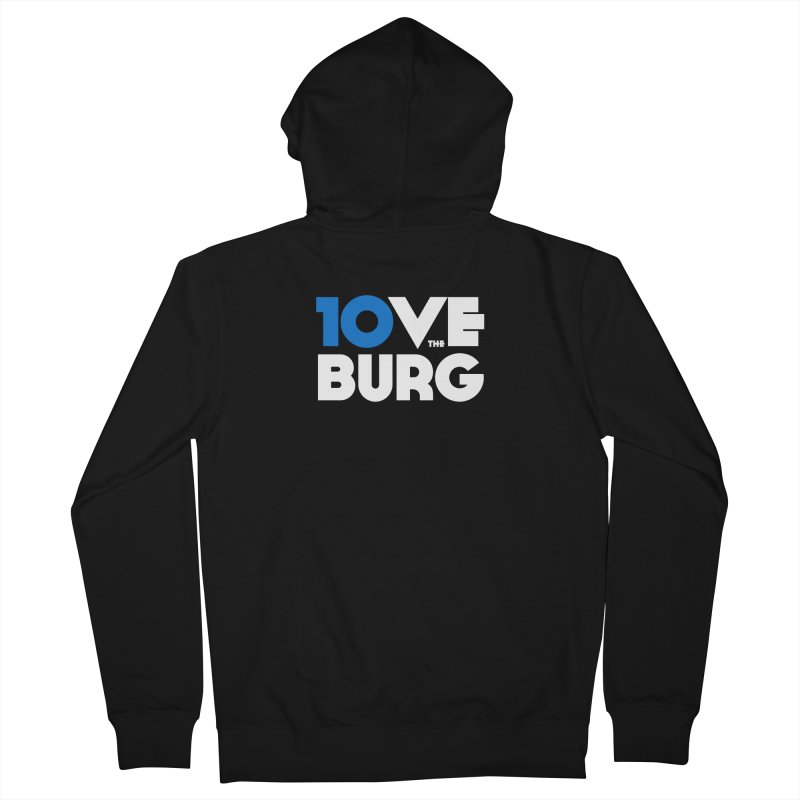 The 10 Year Anniversary Shirt Loose Fit - All Gender Zip-Up Hoody by I Love the Burg Swag