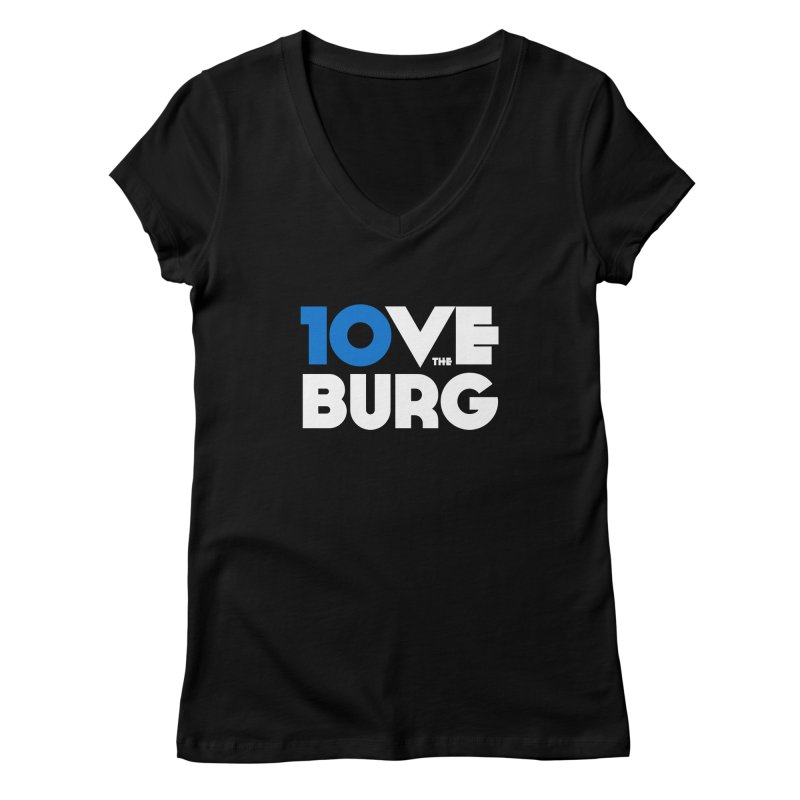The 10 Year Anniversary Shirt Women's V-Neck by I Love the Burg Swag