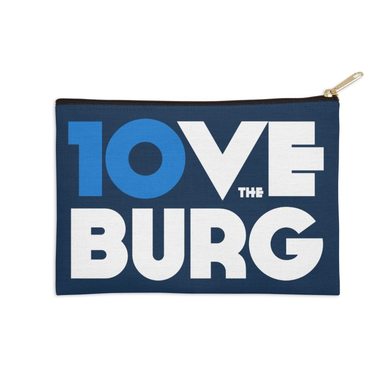The 10 Year Anniversary Shirt Accessories Zip Pouch by I Love the Burg Swag