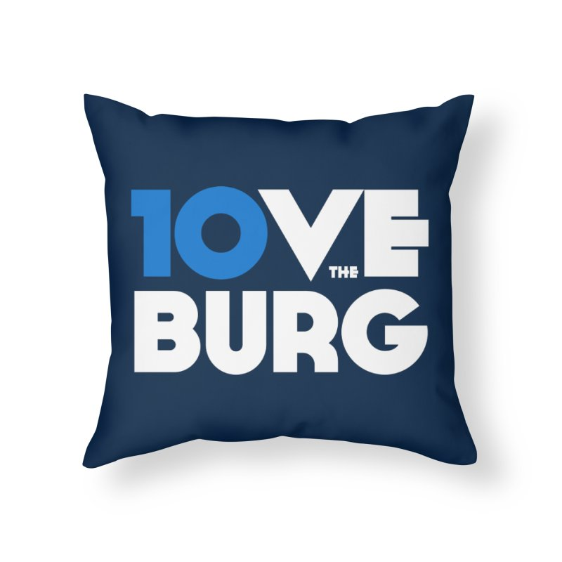 The 10 Year Anniversary Shirt Home Throw Pillow by I Love the Burg Swag