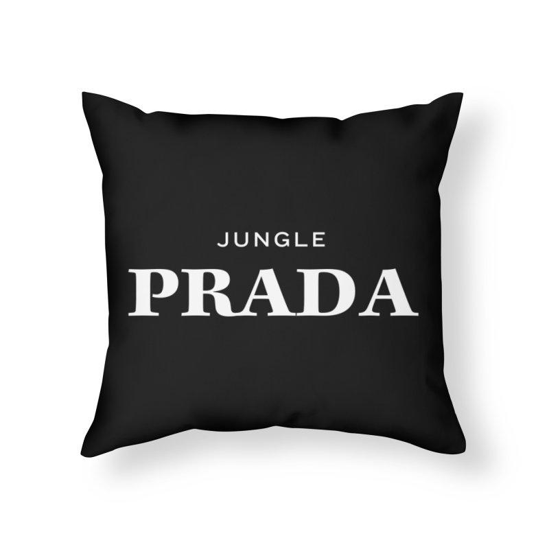 Jungle PRADA Home Throw Pillow by I Love the Burg Swag