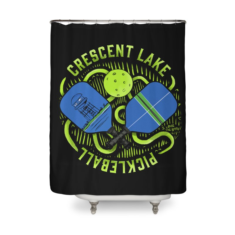 Saint Picklesburg Home Shower Curtain by I Love the Burg Swag