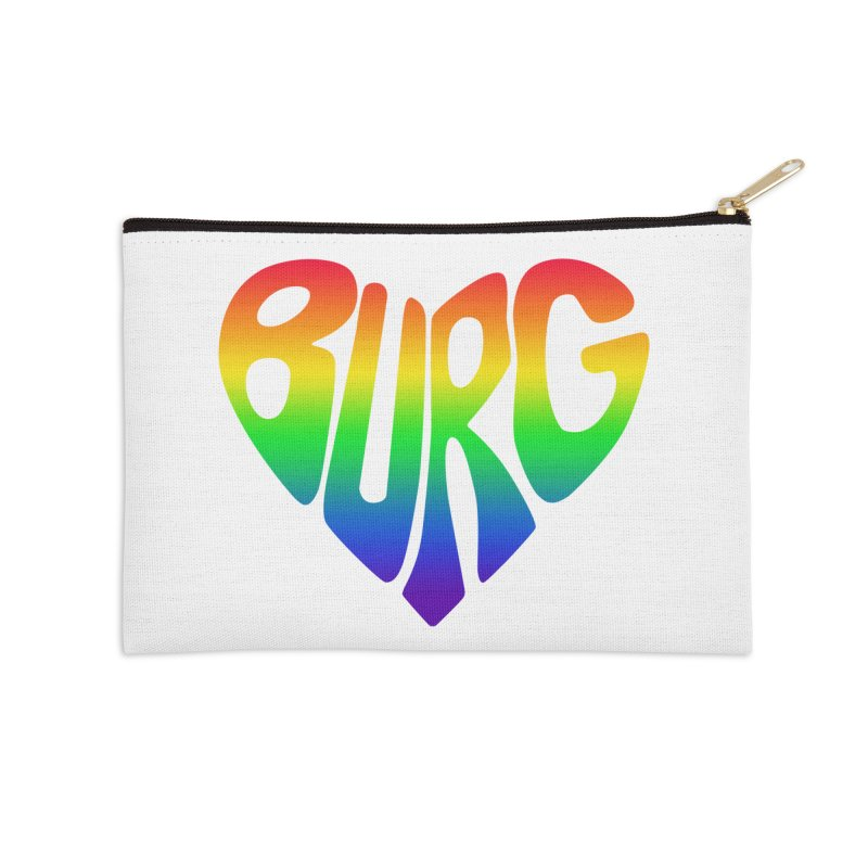 I <3 THE BURG WITH MY WHOLE HEART - PRIDE EDITION Accessories Zip Pouch by I Love the Burg Swag