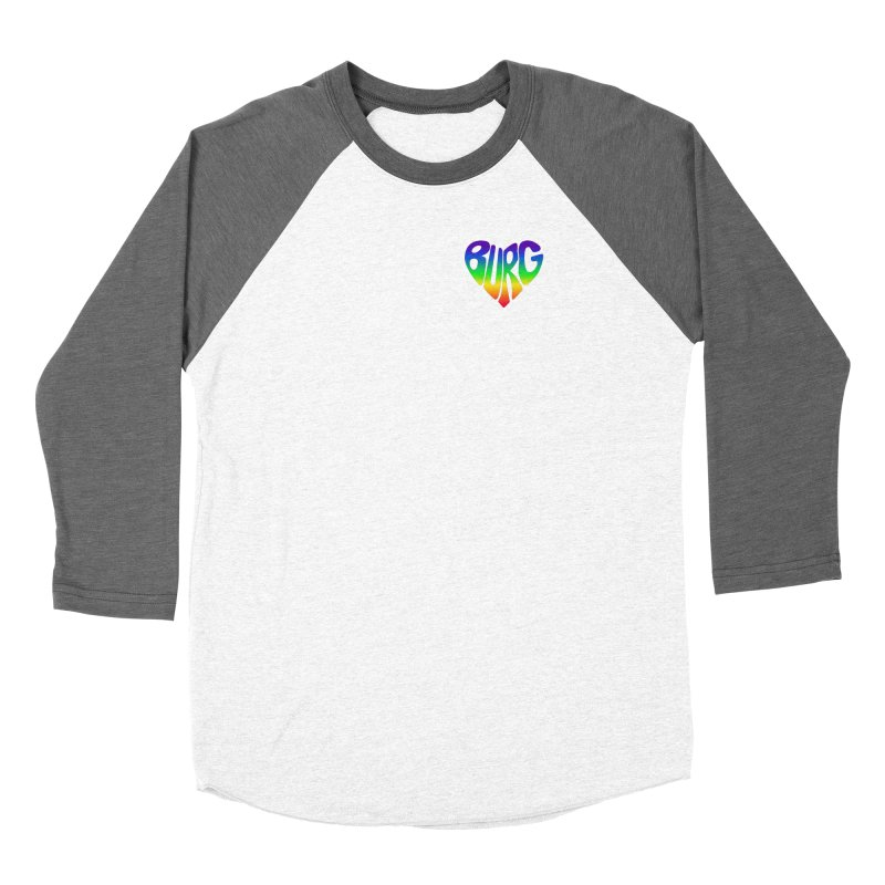 I <3 THE BURG WITH MY WHOLE HEART - PRIDE EDITION Fitted - All Gender Longsleeve T-Shirt by I Love the Burg Swag