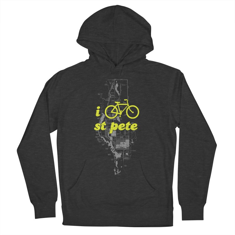 I Bike St. Pete Men's French Terry Pullover Hoody by I Love the Burg Swag