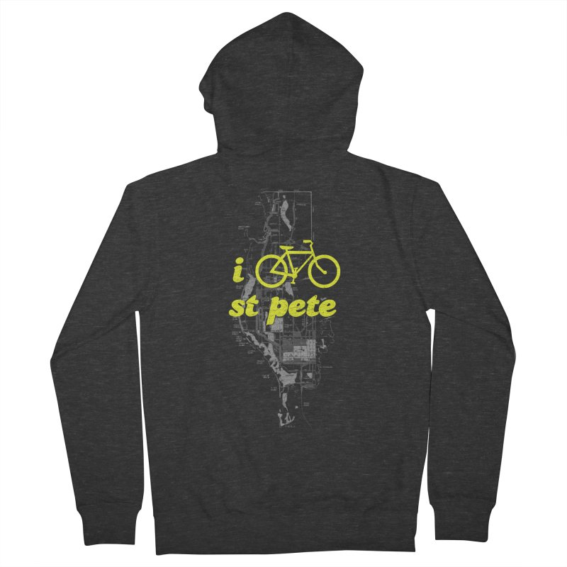 I Bike St. Pete Women's French Terry Zip-Up Hoody by I Love the Burg Swag
