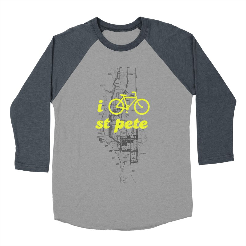 I Bike St. Pete Men's Baseball Triblend Longsleeve T-Shirt by I Love the Burg Swag