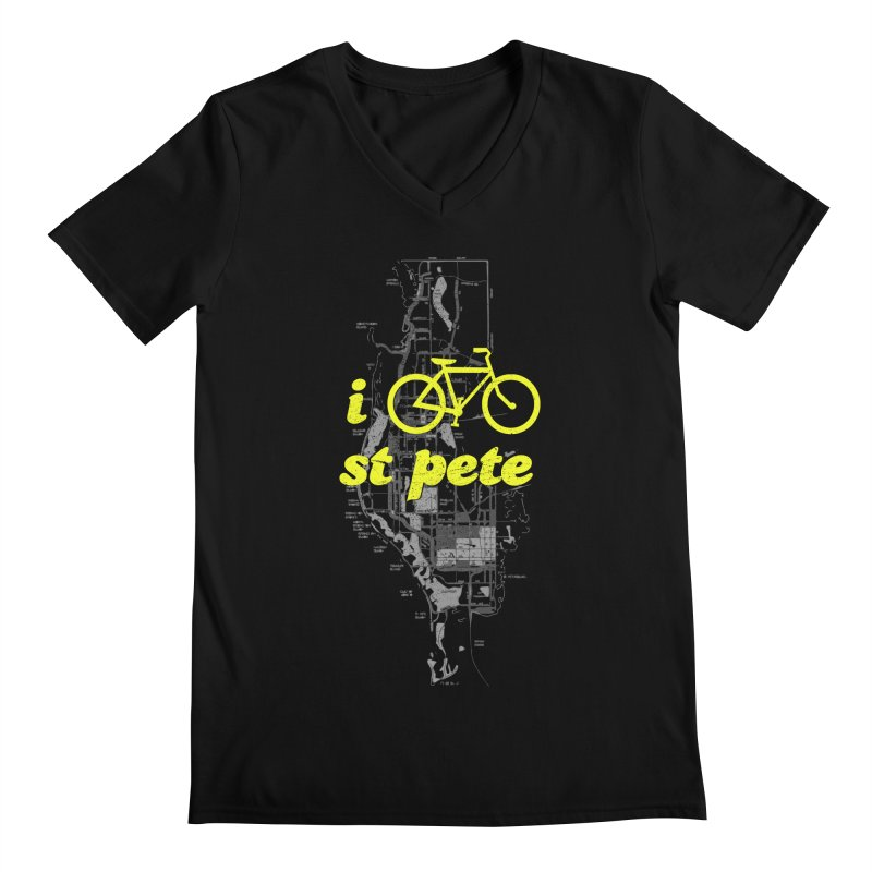 I Bike St. Pete Men's V-Neck by I Love the Burg Swag
