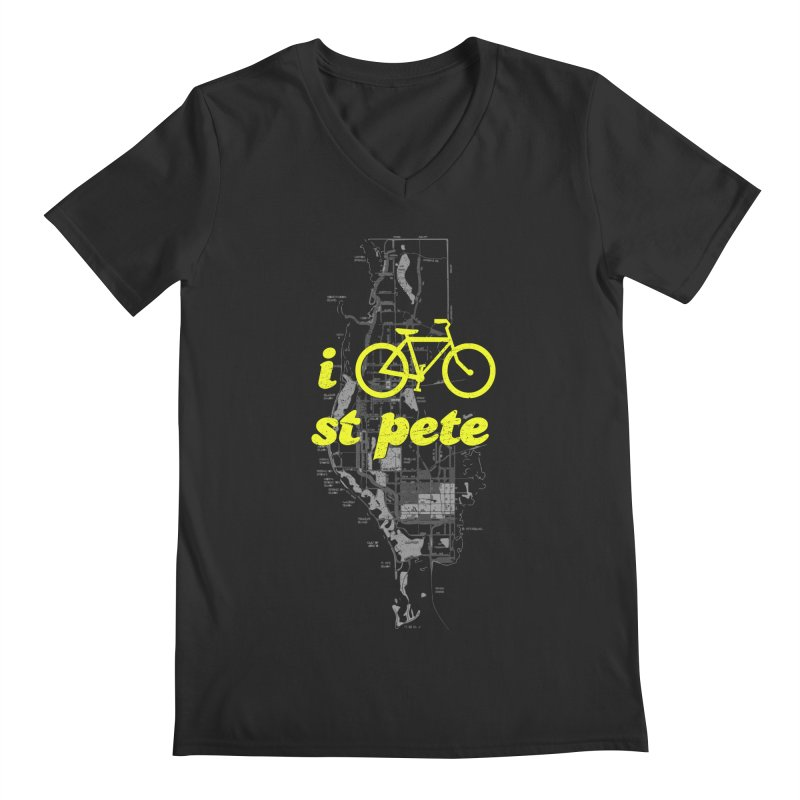 I Bike St. Pete Men's Regular V-Neck by I Love the Burg Swag