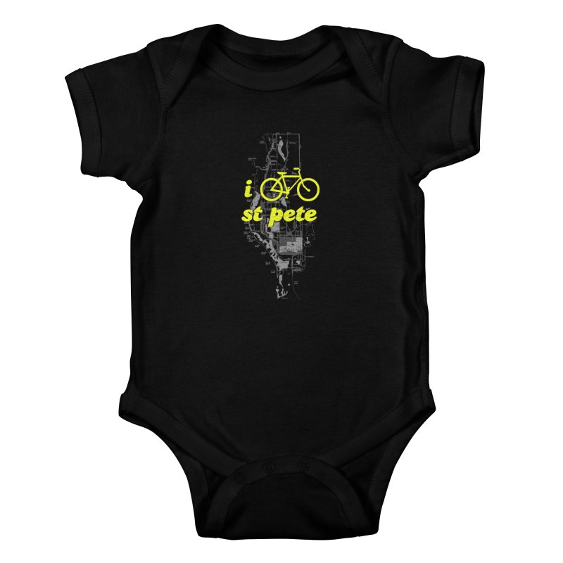 I Bike St. Pete Kids Baby Bodysuit by I Love the Burg Swag