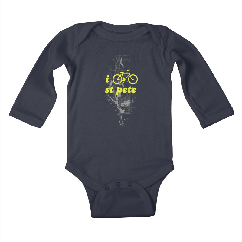 I Bike St. Pete Kids Baby Longsleeve Bodysuit by I Love the Burg Swag