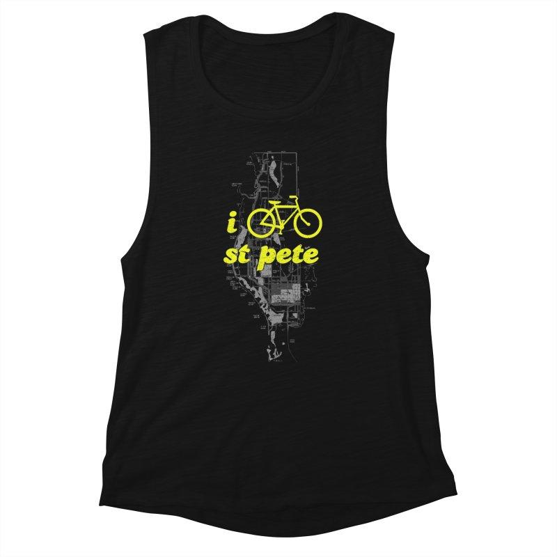 I Bike St. Pete Women's Muscle Tank by I Love the Burg Swag