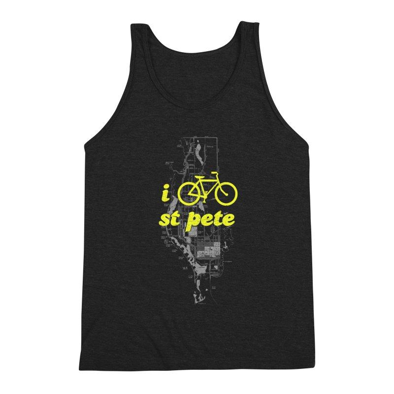 I Bike St. Pete Men's Triblend Tank by I Love the Burg Swag