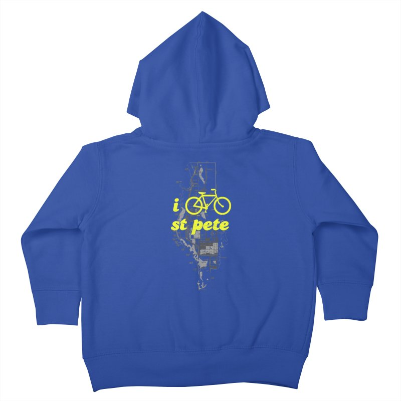I Bike St. Pete Kids Toddler Zip-Up Hoody by I Love the Burg Swag