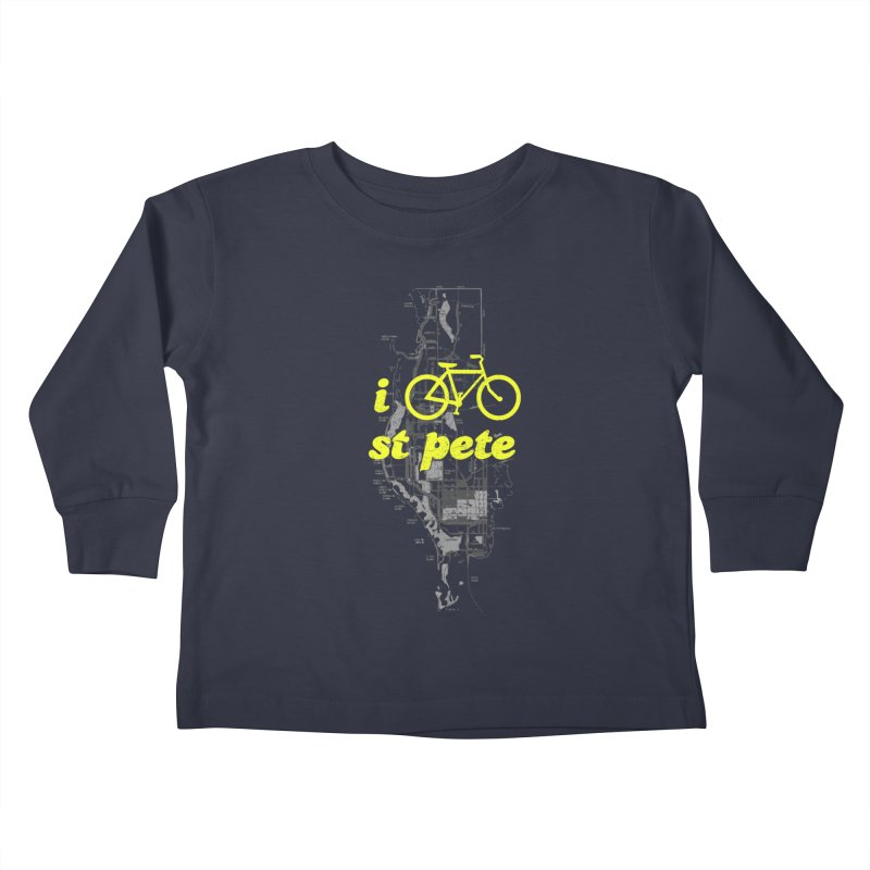 I Bike St. Pete Kids Toddler Longsleeve T-Shirt by I Love the Burg Swag