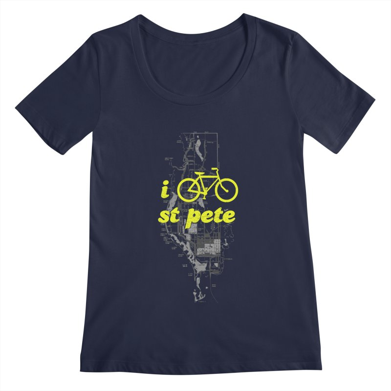 I Bike St. Pete Women's Regular Scoop Neck by I Love the Burg Swag